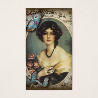 Posh Vintage Butterfly Paris Lady Fashion Business Card