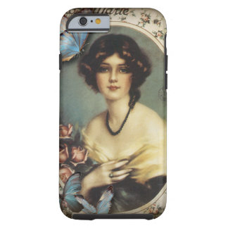 Posh Vintage Butterfly Paris Lady Fashion Tough iPhone 6 Case