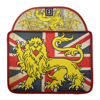 Posh Vintage Union Jack Heraldry MacBook Sleeve