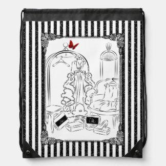 Posh Wardrobe Drawstring Backpack