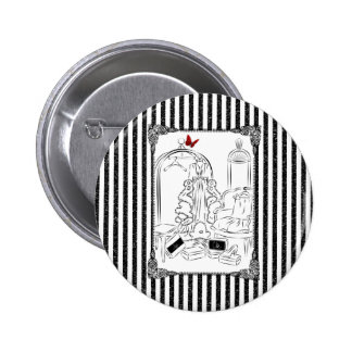 Posh Wardrobe Striped Room Pinback Button