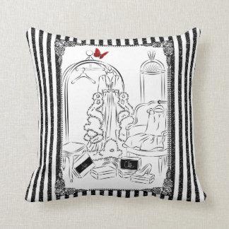 Posh Wardrobe Striped Room Throw Pillow