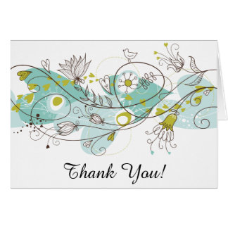 Posh + Whimsical Thank You Card
