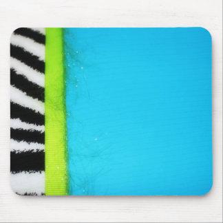 Posh Zebra on Blue Mousepad