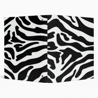 Posh Zebra Print Custom Binder