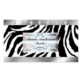 Posh Zebra Print Real Estate Business Cards