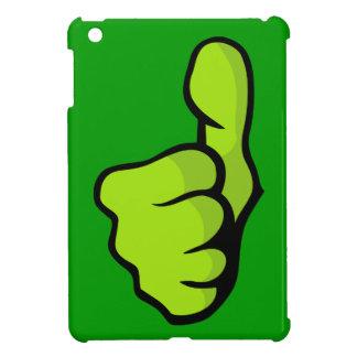 posi verde superior del dedo del pulgar del puño f