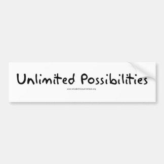 Posibilidades ilimitadas pegatina de parachoque