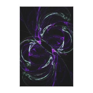 Posibilidades - púrpura y Amethyst cósmicos Impresion De Lienzo