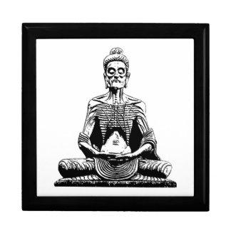 Posición de loto Meditating de ayuno de Buda Joyero Cuadrado Grande