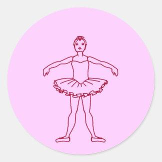 Posición del ballet segundo pegatina redonda