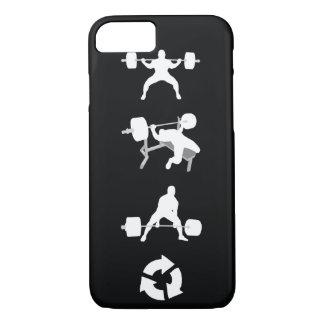 Posición en cuclillas, prensa de banco, Deadlift, Funda iPhone 7