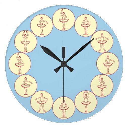 Posiciones de ballet reloj redondo grande