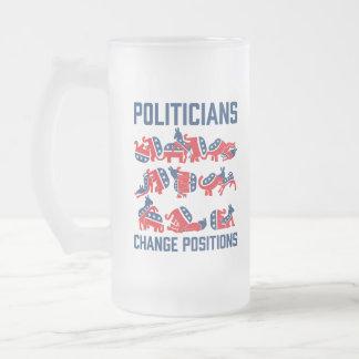 Posiciones del cambio de los políticos taza