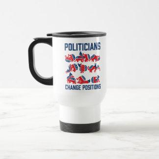 Posiciones del cambio de los políticos tazas de café