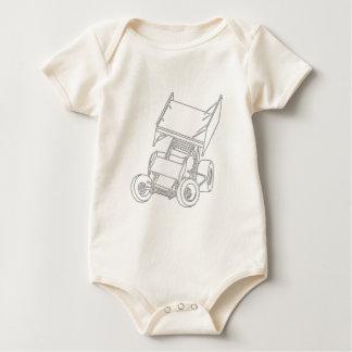 Posiciones oblicuas coas alas/blanco de Sprint Traje De Bebé