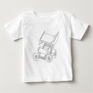 Posiciones oblicuas coas alas/blanco de Sprint T Shirts
