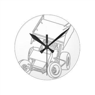 Posiciones oblicuas coas alas/blanco de Sprint Reloj Redondo Mediano