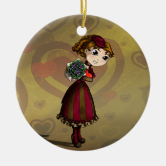 Posies and Chocolates Ceramic Ornament