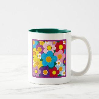 Posies Two-Tone Coffee Mug