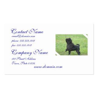 Posing Affenpinscher Business Card Template