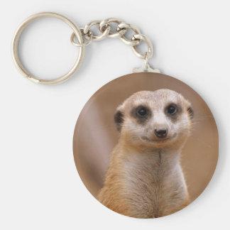 Posing Meerkat Basic Round Button Keychain