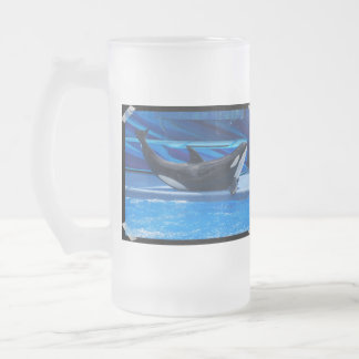 Posing Orca Frosted Beer Mug