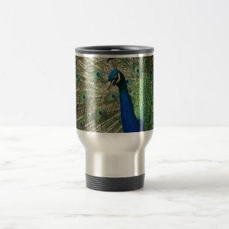 Posing Peacock Travel Mug