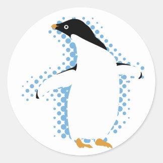 Posing Penguin Classic Round Sticker