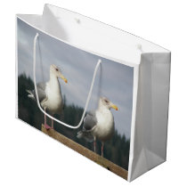 Posing Seagulls Photo Large Gift Bag