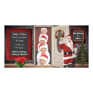Posing With Santa Christmas Card
