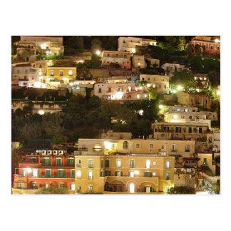Positano at Night - Hillside Homes Postcard