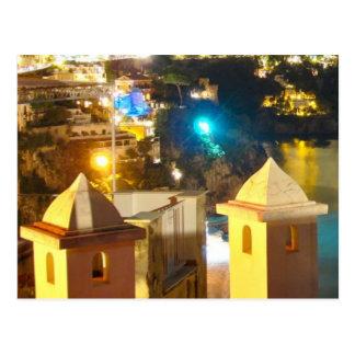 Positano at Night - Towers II Postcard