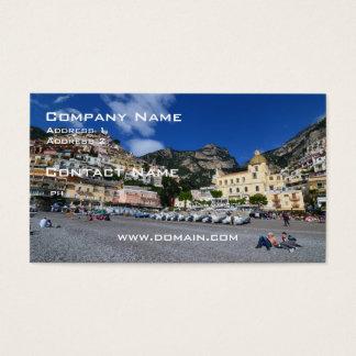 Positano Beach Business Card