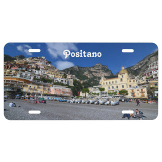 Positano Beach License Plate