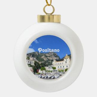 Positano Ceramic Ball Christmas Ornament