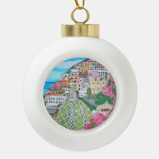 Positano - Ceramic Ball Ornament