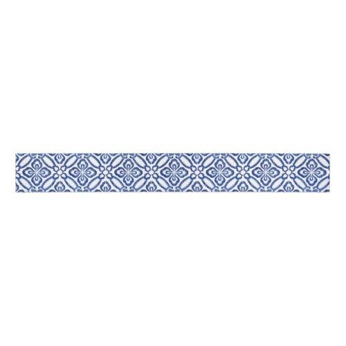 Positano Cobalt Blue and White Tile Matching Grosgrain Ribbon