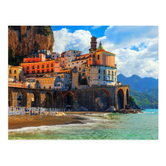 Positano in Southern Italy Postcard