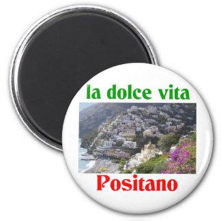 Positano Italia Imán Redondo 5 Cm