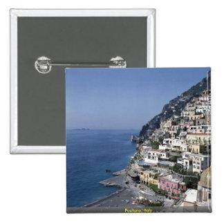 Positano, Italia Pin Cuadrado
