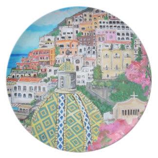 Positano, Italia - placas Plato