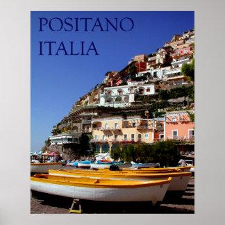 positano italia poster