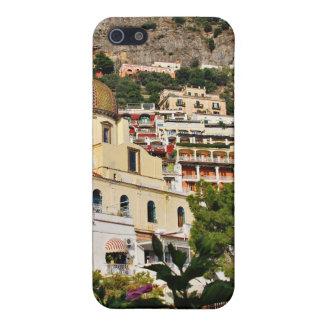 Positano, Italia - visión desde la playa iPhone 5 Protectores