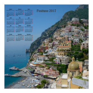 Positano, Italy 2017 Calendar Poster