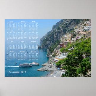 Positano, Italy 2018 Calendar Poster