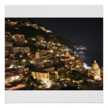 Positano Italy at Night - Photographic Print