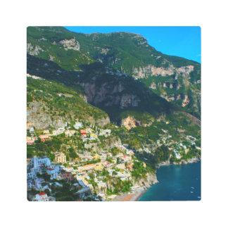 Positano Italy on the Amalfi Coast Metal Print