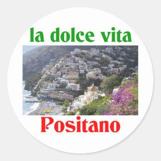 Positano Italy Round Sticker