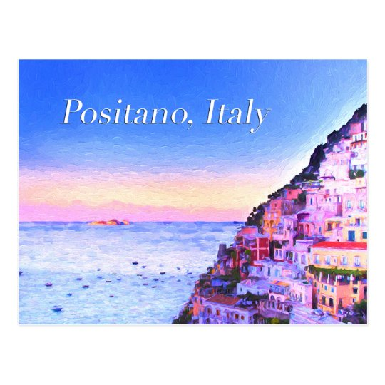 Positano, Italy Sunset Postcard